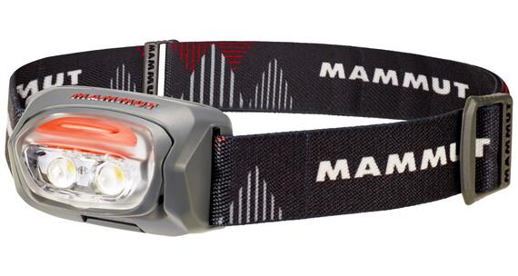 Mammut T-Base hoofdlamp grijs/zwart